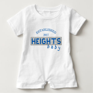 Personalized Houston Heights Blue & White Tile Baby Bodysuit