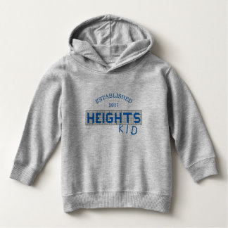 Personalized Houston Heights Blue & White Tile Kid Hoodie