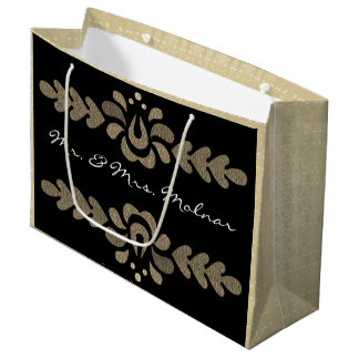 Personalized Hungarian Elegance Multi Occasion Large Gift Bag