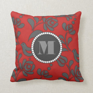 Personalized Hungarian Folk Art Cushion