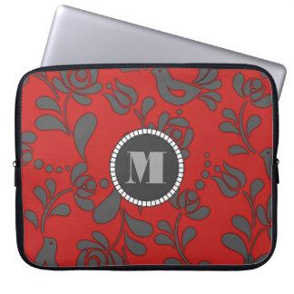 Personalized Hungarian Folk Art Laptop Sleeve