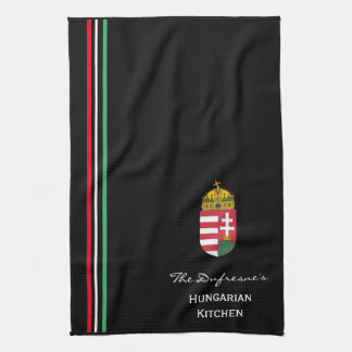 Personalized Hungarian Kitchen w/Coat of Arms Tea Towel