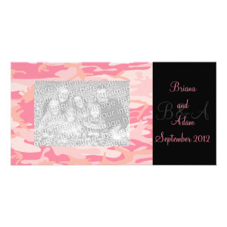 Personalized Hunter Girl Pink Camo Frame Photocard Picture Card