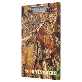 Personalized Hunter's Camo Camouflage Painting Clipboard