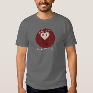 Personalized I heart you message Tees