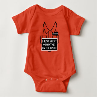 Personalized I Just Spent 9 Months on the Inside Baby Bodysuit