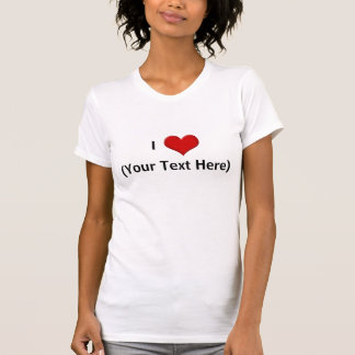 Personalized I Love Heart Shirt, Add a Name! T-shirts