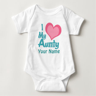 Personalized I Love My Aunty Baby Bodysuit
