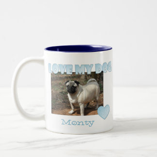 Personalized: I Love My Dog Mug