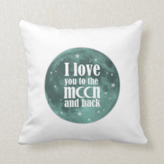 PERSONALIZED I LOVE YOU MORE reversible lovepillow Pillow