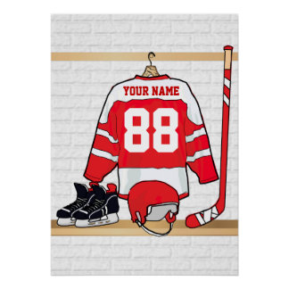 Personalized Ice Hockey Jersey Poster