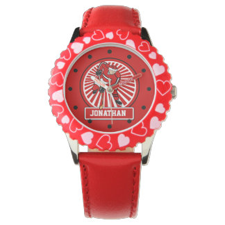 Personalized Ice Hockey Player Red Watch