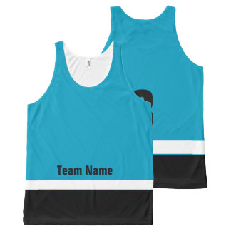 Personalized Ice Hockey Team Colors Tank Top All-Over Print Tank Top