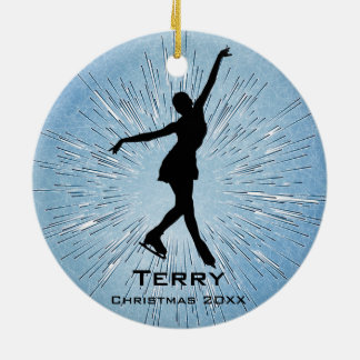 Personalized Ice Skating Ornament