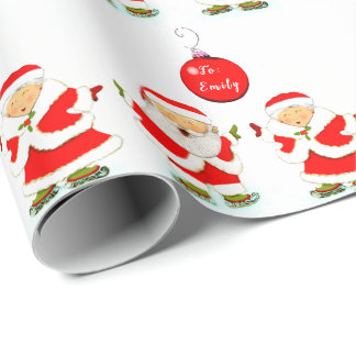 personalized ice skating wrapping paper