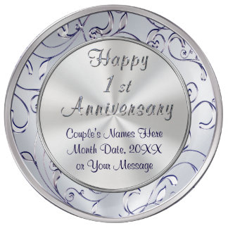Personalized Ideas for One Year Anniversary, Wife Porcelain Plates
