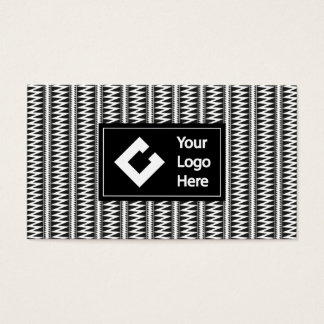 Personalized Ikat Zigzag Black White with Logo Business Card