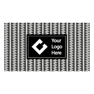 Personalized Ikat Zigzag Black White with Logo Pack Of Standard Business Cards
