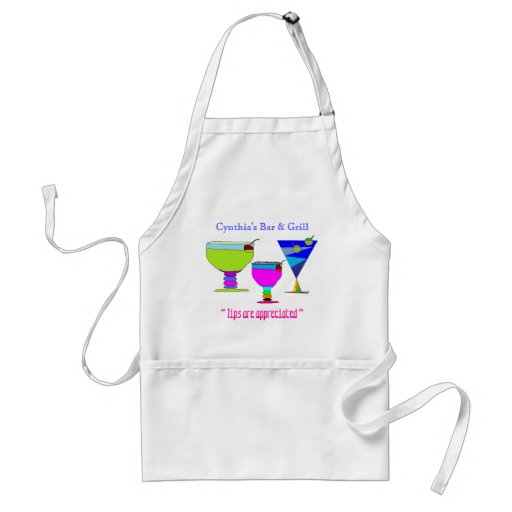 Personalized Illustrated Drinks Apron