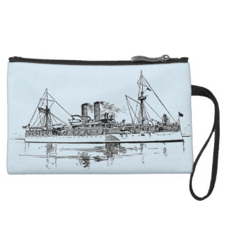 Personalized Illustrated  Steam Boat Wristlet