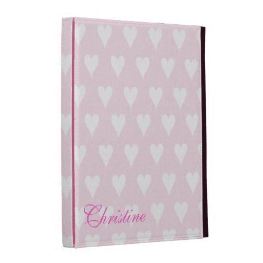 Personalized initial C girls name hearts pink iPad Cases
