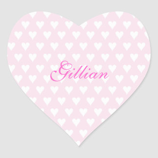 Personalized initial G girls name cute pink hearts Heart Sticker