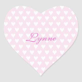 Personalized initial L girls name cute pink hearts Stickers