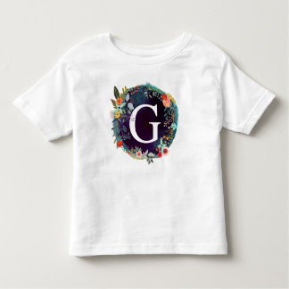 Personalized Initial Letter G Monogram T-Shirt