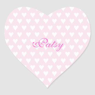 Personalized initial P girls name cute pink hearts Sticker