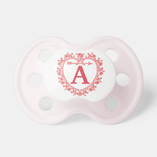 Personalized Initial - Vintage Ornate Pacifiers