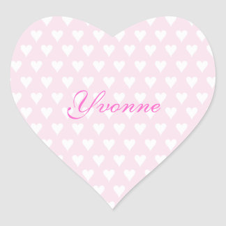 Personalized initial Y girls name cute pink hearts Heart Stickers