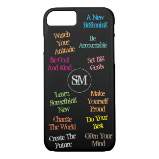 Personalized Initials Motivational Quotes - iPhone 8/7 Case
