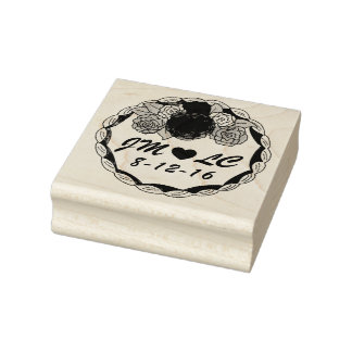 Personalized Initials Wedding Cake Date Stamp