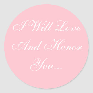 Personalized Invites Bubble Gum Pink Classic Round Sticker