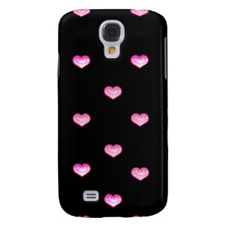 Personalized Iphone case 3G black pink Samsung Galaxy S4 Cover