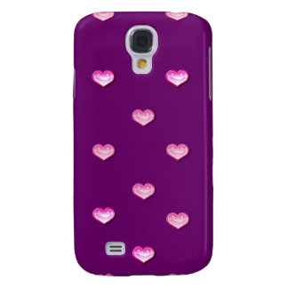 Personalized Iphone case 3G purple pink Galaxy S4 Case