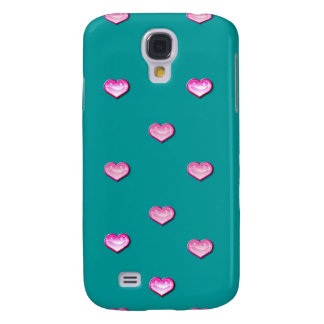 Personalized Iphone case 3G teal pink Samsung Galaxy S4 Cases