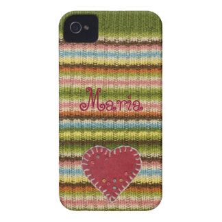 Personalized iPhone Case with Knitted Pattern