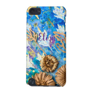 Personalized iPod Case with Chrysanthemum Flower