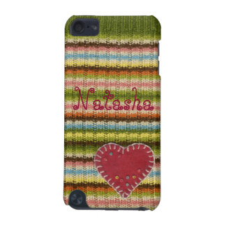 Personalized iPod Case with Knitted Pattern