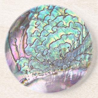 Personalized Iridescent Beautiful Natural Abalone Coasters