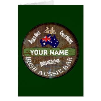 Personalized Irish Australian pub sign Greeting Card