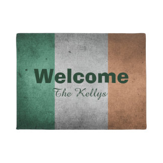 Personalized Irish Flag Doormat