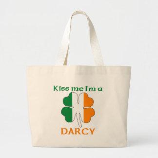 Personalized Irish Kiss Me I'm Darcy Canvas Bag