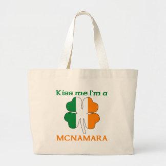 Personalized Irish Kiss Me I'm Mcnamara Canvas Bag