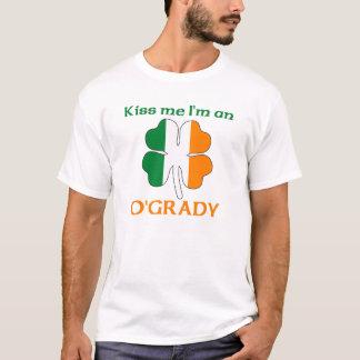 Personalized Irish Kiss Me I'm O'Grady T-Shirt