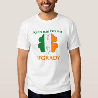 Personalized Irish Kiss Me I'm O'Grady T-shirts