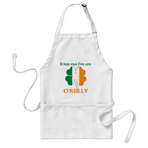Personalized Irish Kiss Me I'm O'Reilly Aprons