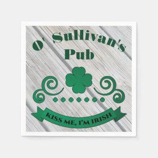 Personalized Irish Pub Disposable Serviette