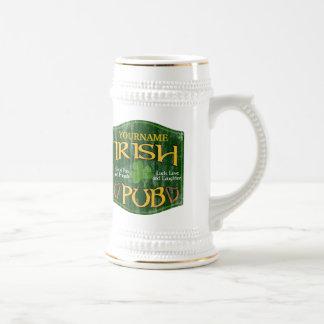 Personalized Irish Pub Sign Coffee Mug
